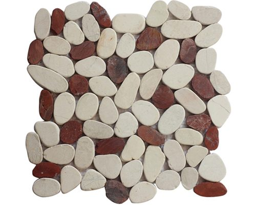 Coin Mix White Red