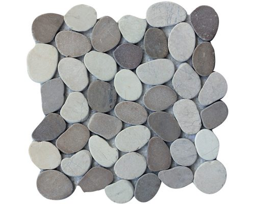 Coin Mix White Tan