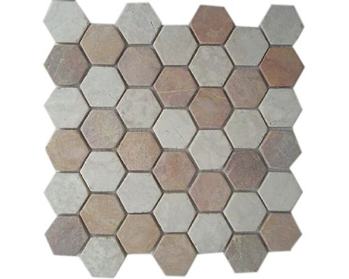 Hexagon Mix White Red