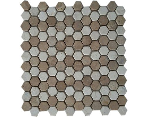 Mini Hexagon Mix White Capucino